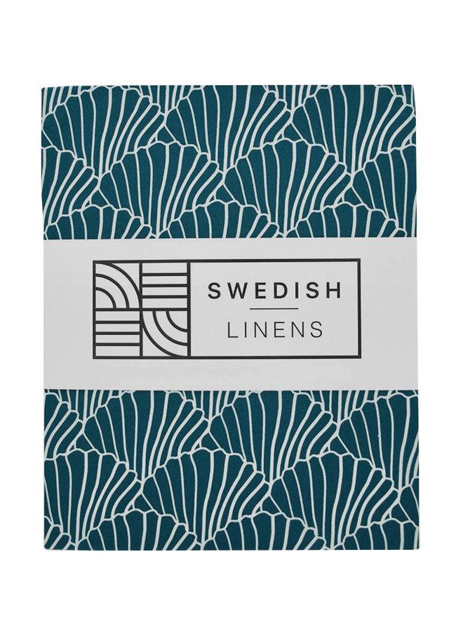 Swedish Linens - seashell moroccan blue