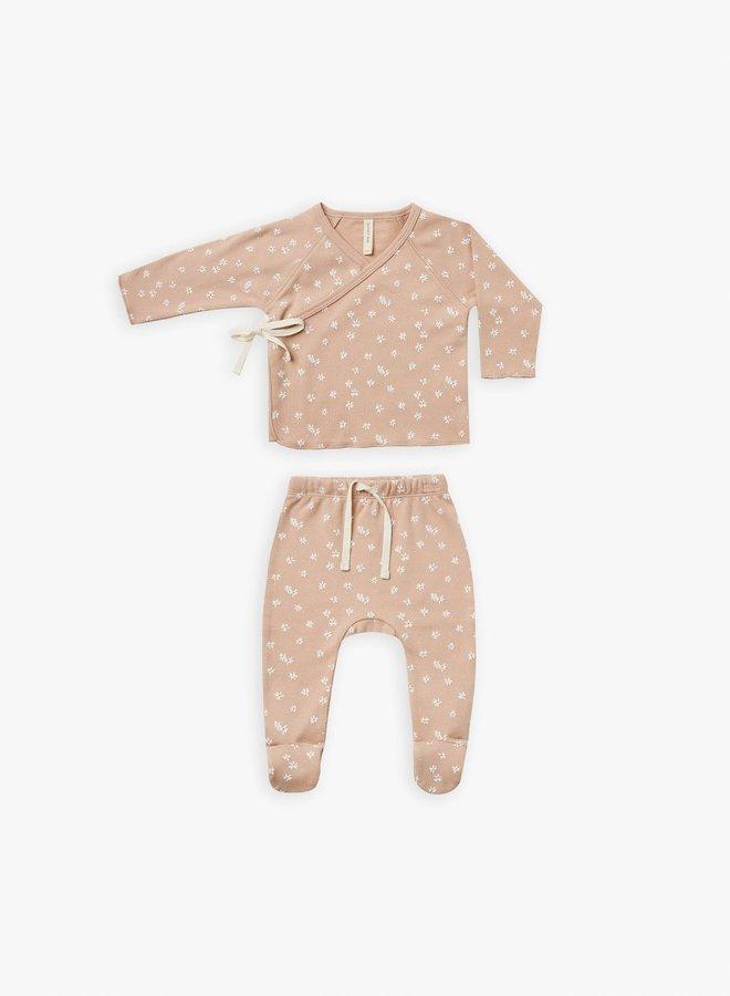 Quincy Mae - kimono top + fooded pant set blossom-petal