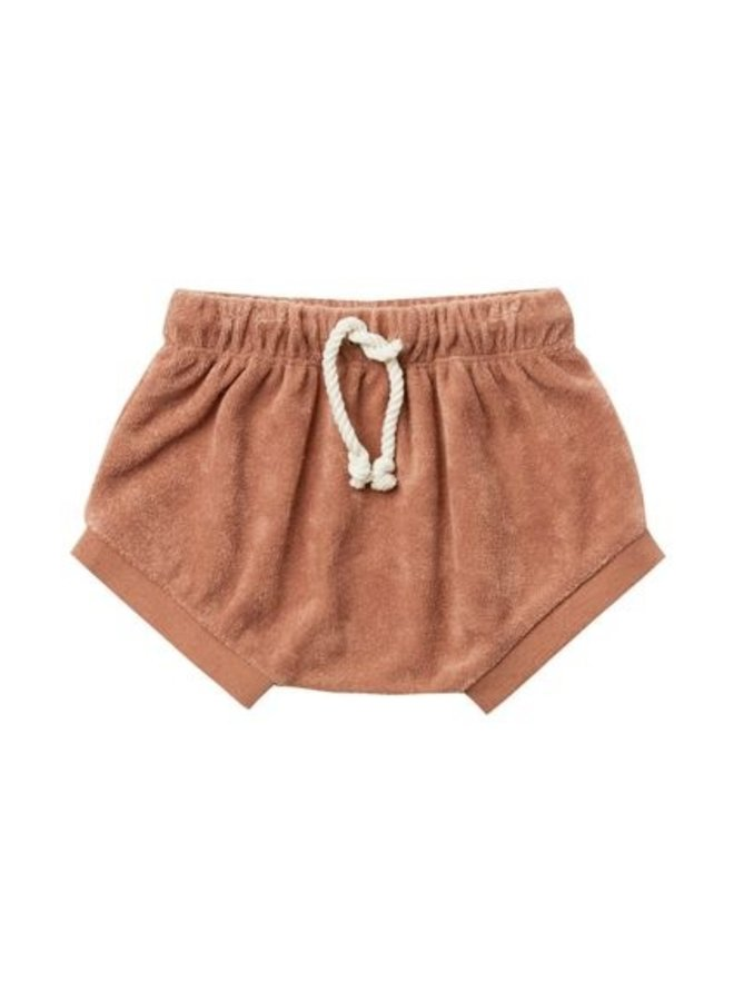 Quincy Mae - terry bloomer short terracotta