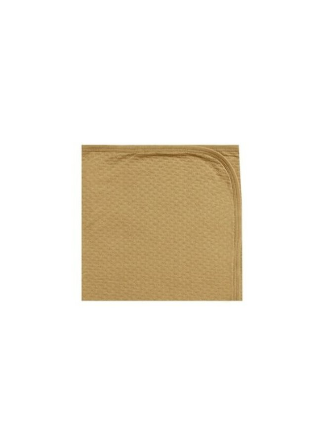 Quincy Mae - Pointelle baby blanket gold