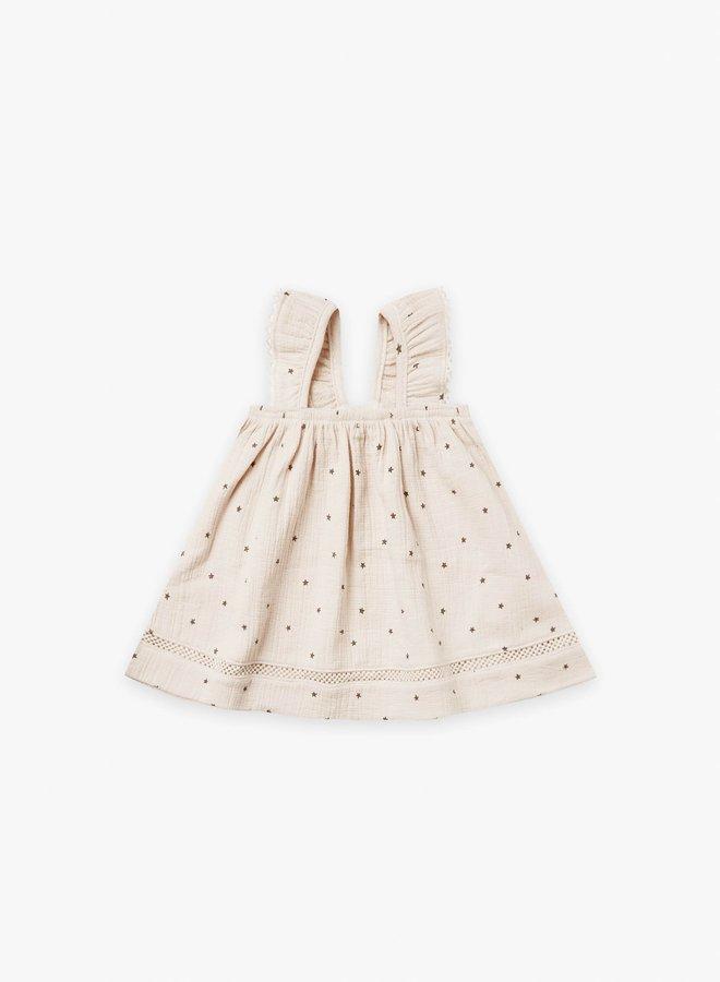 Quincy Mae - woven ruffle tube dress natural