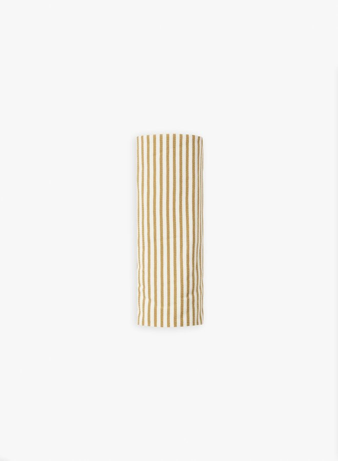 Quincy Mae - swaddle gold-stripe