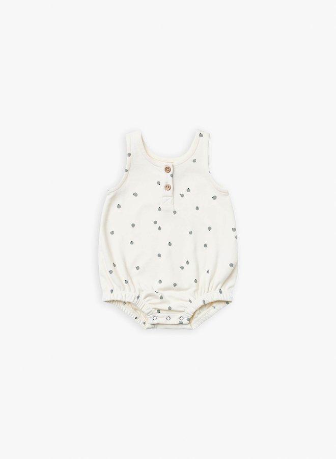 Quincy Mae - sleeveless bubble onesie ivory