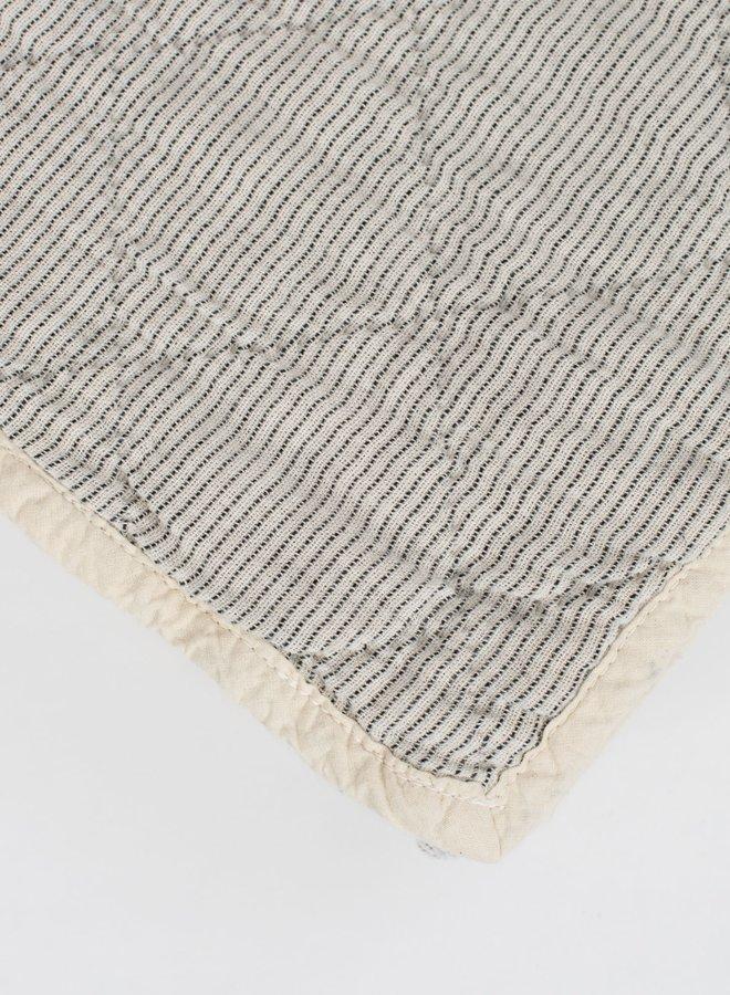 Studio Feder yarn dyed quilt - creme stripe