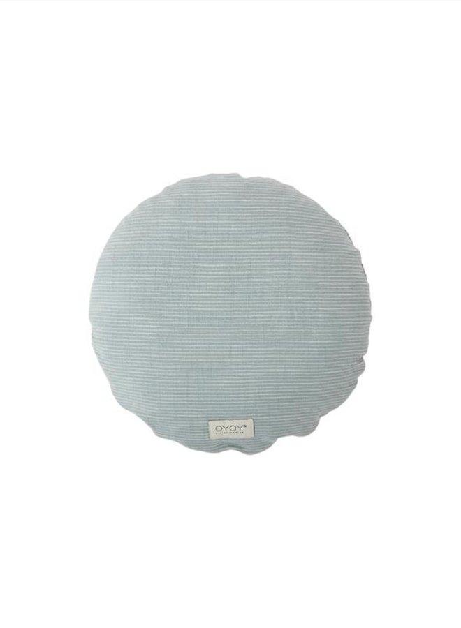 OYOY Kyoto cushion round dusty blue