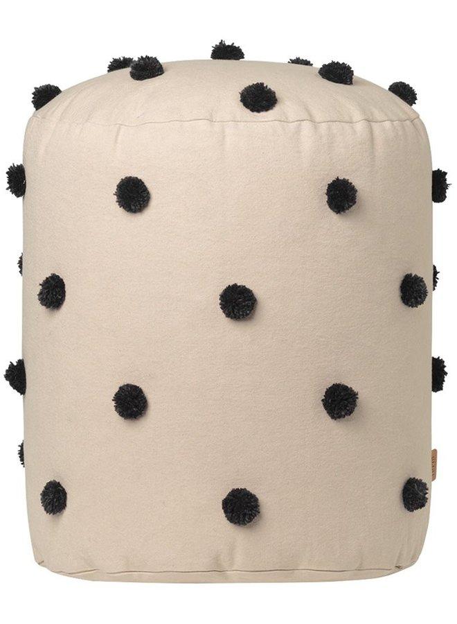 Ferm Living - Dot Tufted Pouf sand/black