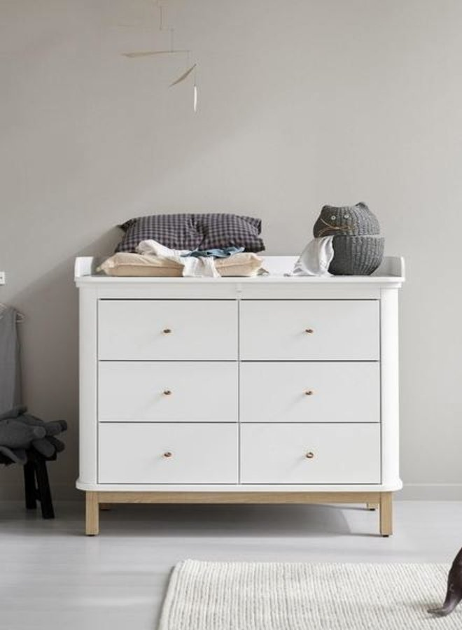 Oliver Furniture Wood nursery top large for dresser with 6 drawers