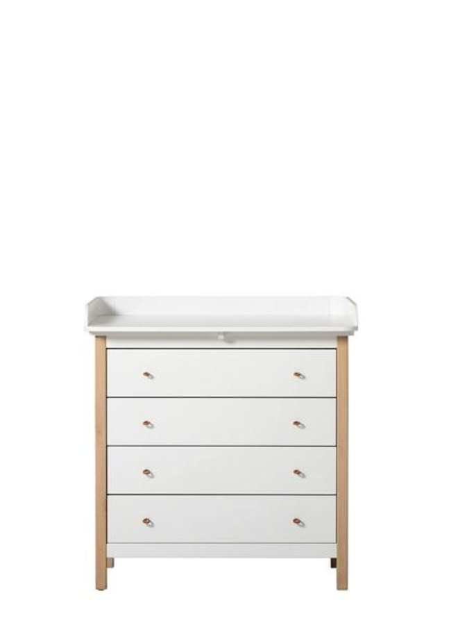 Oliver furniture Wood nursery dresser 4 drawers with nursery top