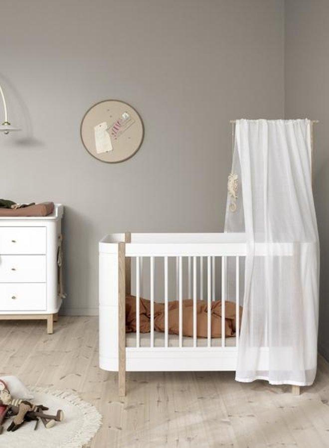 Oliver furniture Mini+ basic bed canopy, white