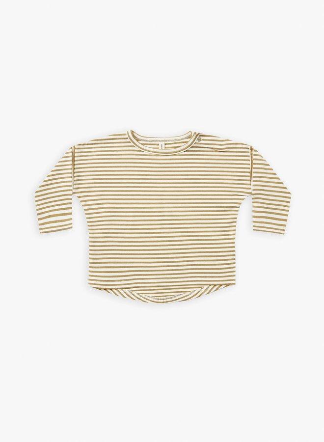 Quincy Mae - longsleeve baby tee gold-stripe