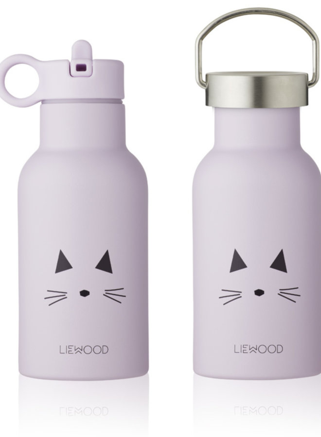 Liewood Anker water bottle cat light lavender