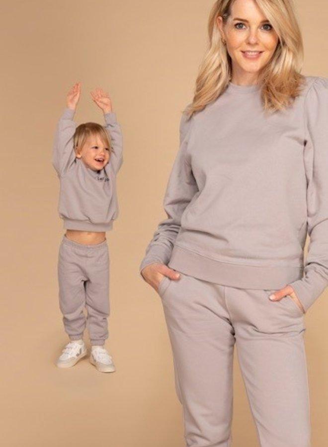 &C x REVIVE - Kids Jogging set BOY, beige - TAKE IT EASY