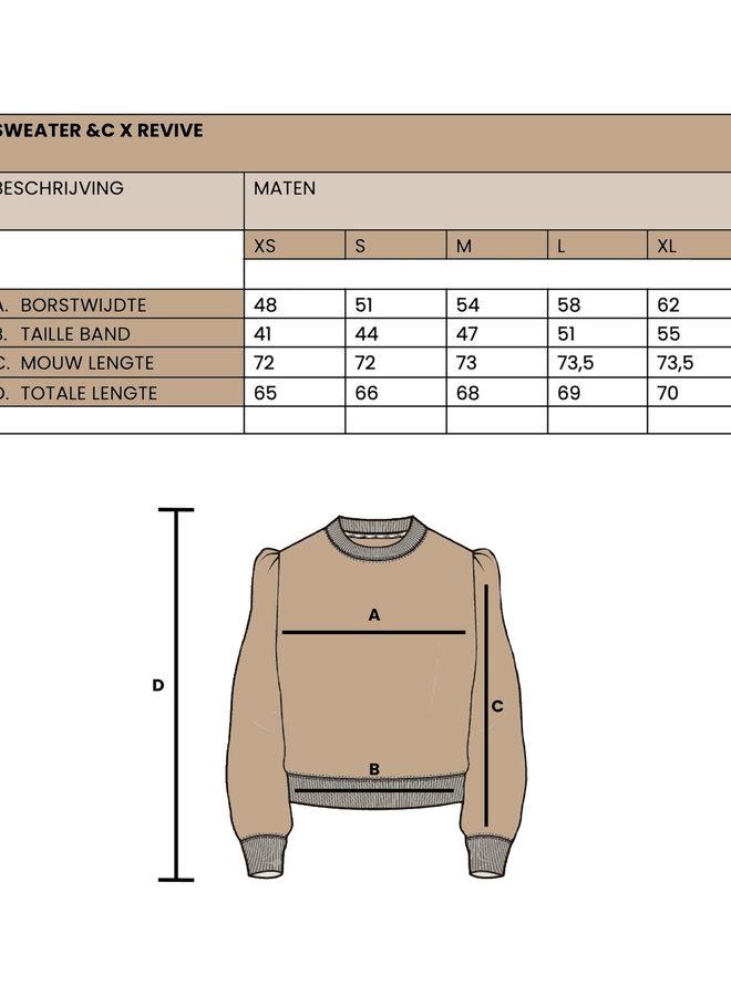 &C x REVIVE - Dames Sweater, grijs - BRING IT ON