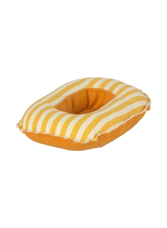 Maileg - Rubber boat, small mouse - yellow stripe