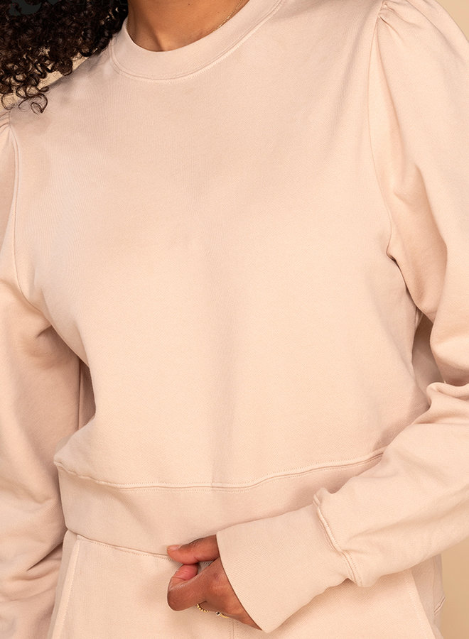 &C x REVIVE - Dames Cropped Sweater, beige - YOU CAN DO THIS