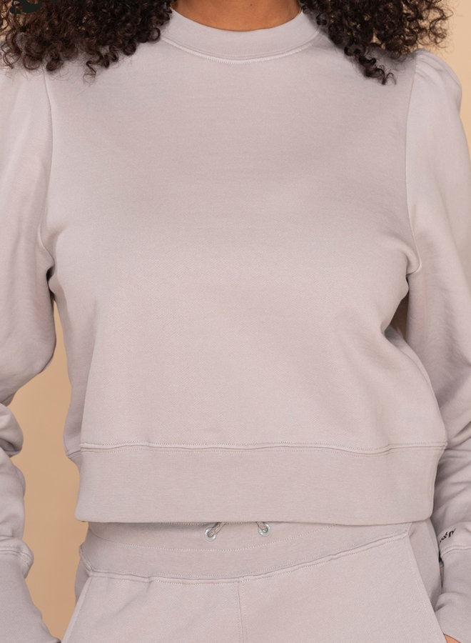 &C x REVIVE - Dames Cropped Sweater, grijs - ALL GOOD