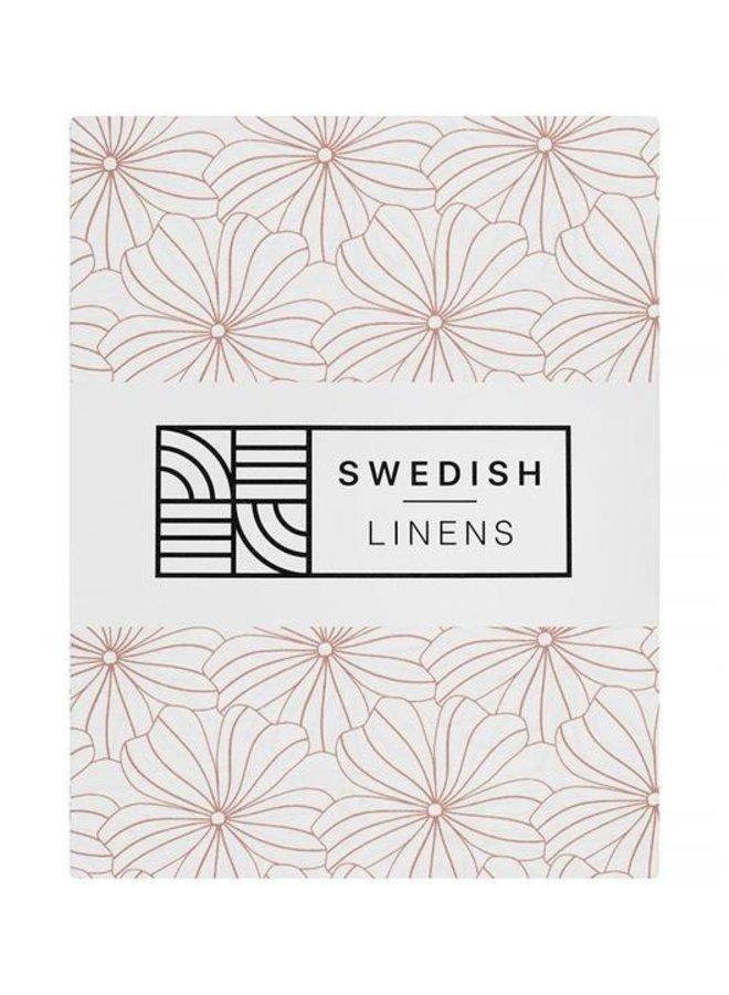 Swedish Linens - flowers white