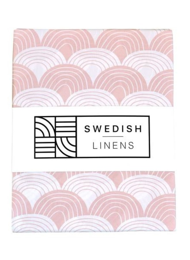 Swedish Linens - rainbows nudy pink