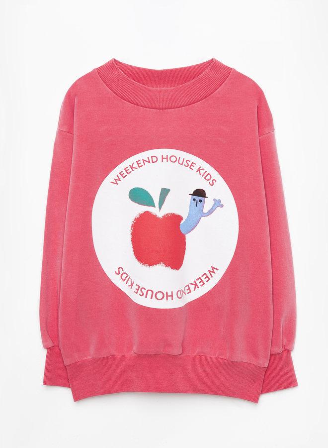 Weekend House Kids - Red Apple sweatshirt, red
