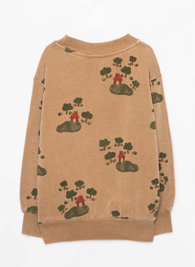 Weekend House Kids - House sweatshirt, camel