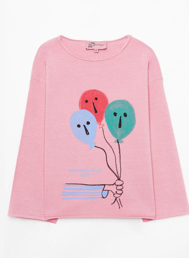 Weekend House Kids - Balloon sweatshirt, pink