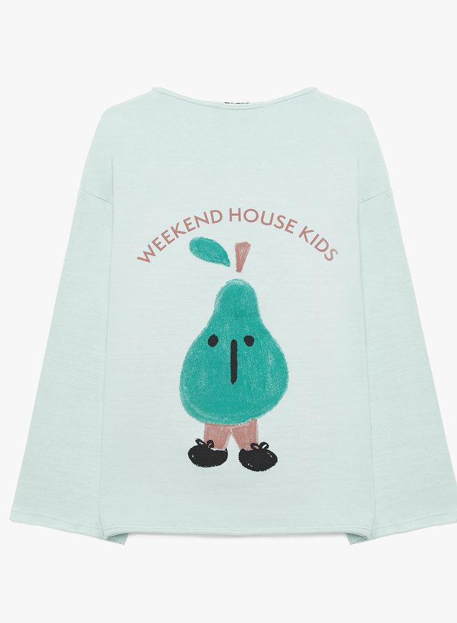 Weekend House Kids - Pear sweatshirt, pastel green