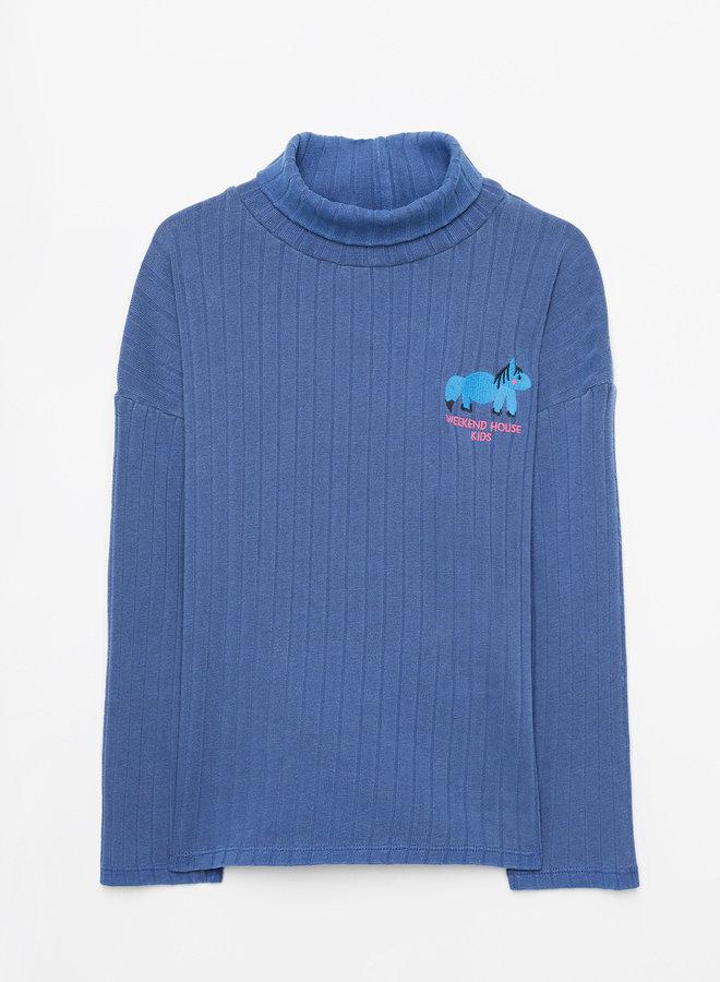 Weekend House Kids - Horse turtle neck, blue