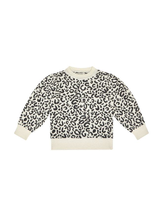 The New Society - Rose Jumper Leopard