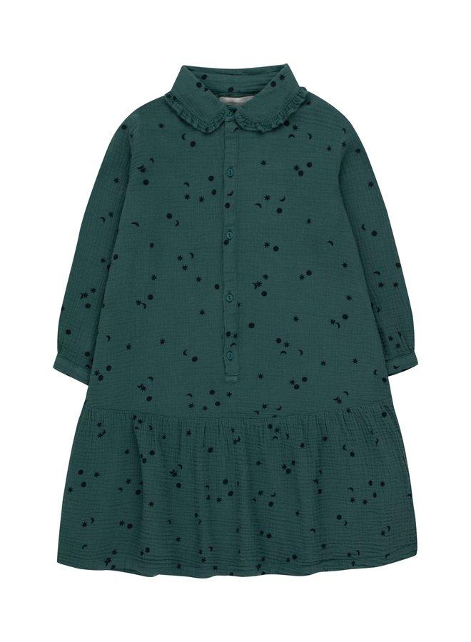 Tiny Cottons - Sky Frills Dress, stormy blue/navy