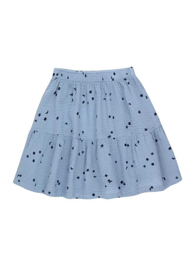 Tiny Cottons - Sky Short Skirt, milky sky/deep blue