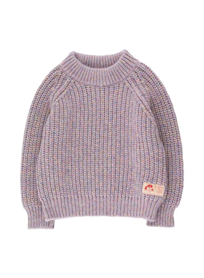 Tiny Cottons - Multicolor Mockneck Sweater, pastel multicolor