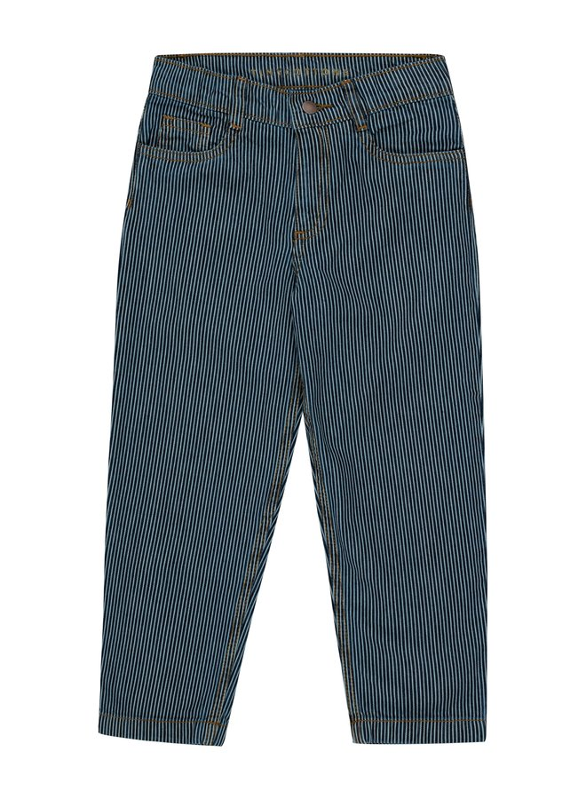 Tiny Cottons - Striped Denim Baggy Pants, stripes denim