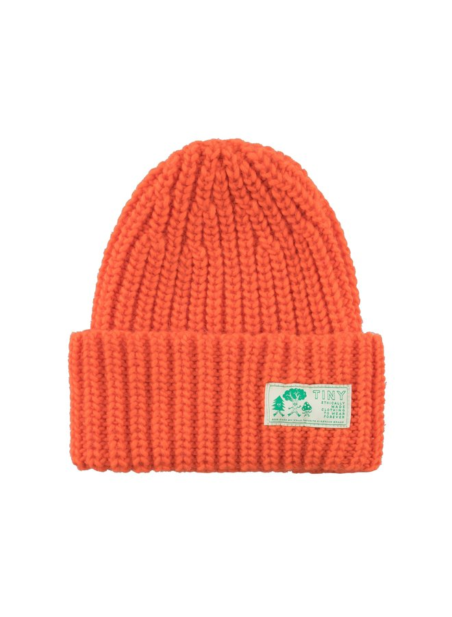Tiny Cottons - Solid Beanie, red