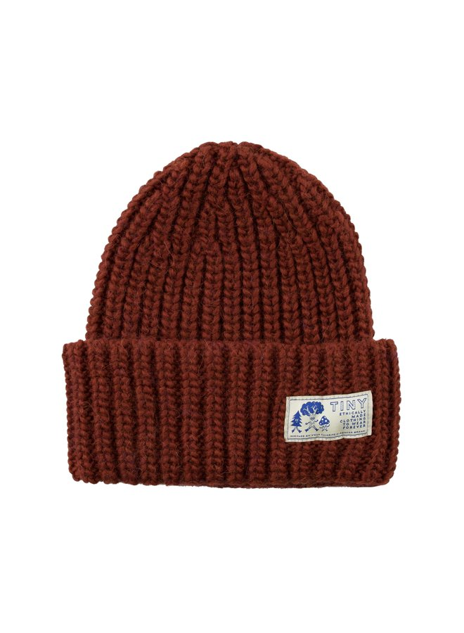 Tiny Cottons - Solid Beanie, dark copper