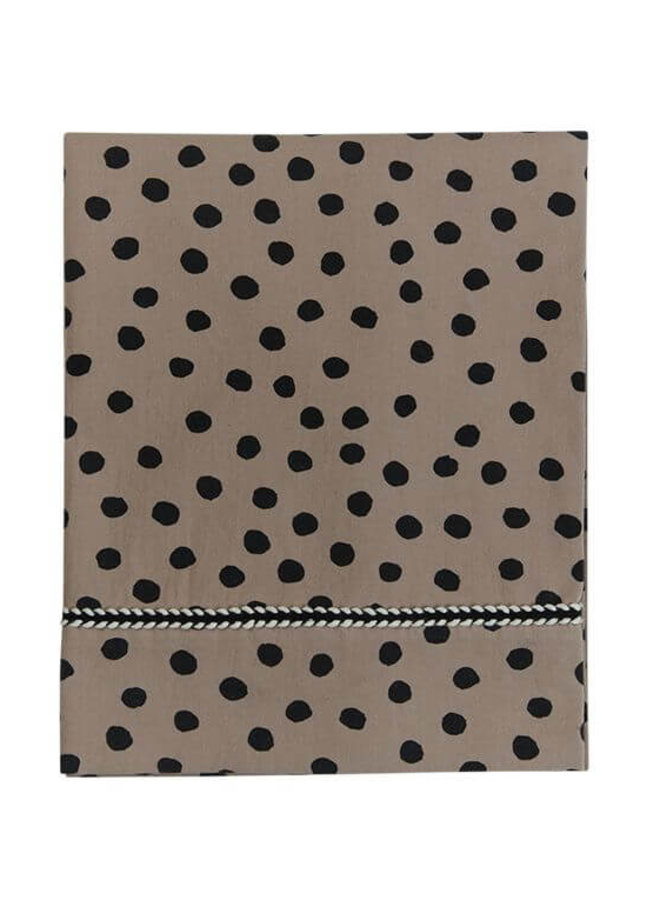 Mies & Co wieglakentje Bold Dots Dark Brown