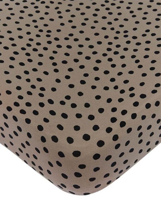 Mies & Co hoeslaken ledikant Bold Dots Dark Brown
