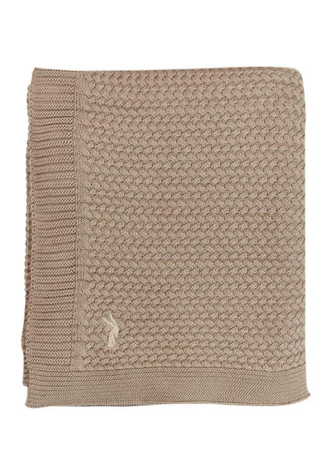 Mies & Co wiegdeken Dune - soft knitted