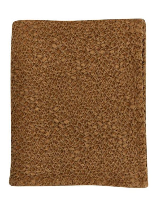Mies & Co ledikantdeken Bronze Mist - subtile honeycomb