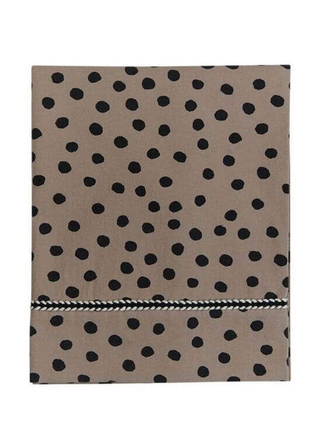 Mies & Co ledikantlaken Bold Dots Dark Brown