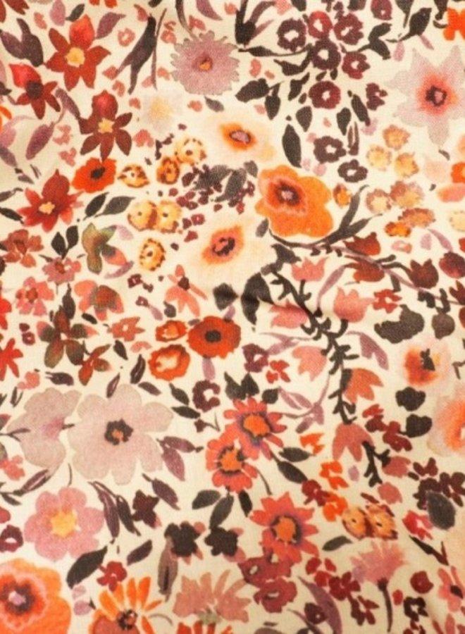 Poppenbroekje en shirt - retro flowers