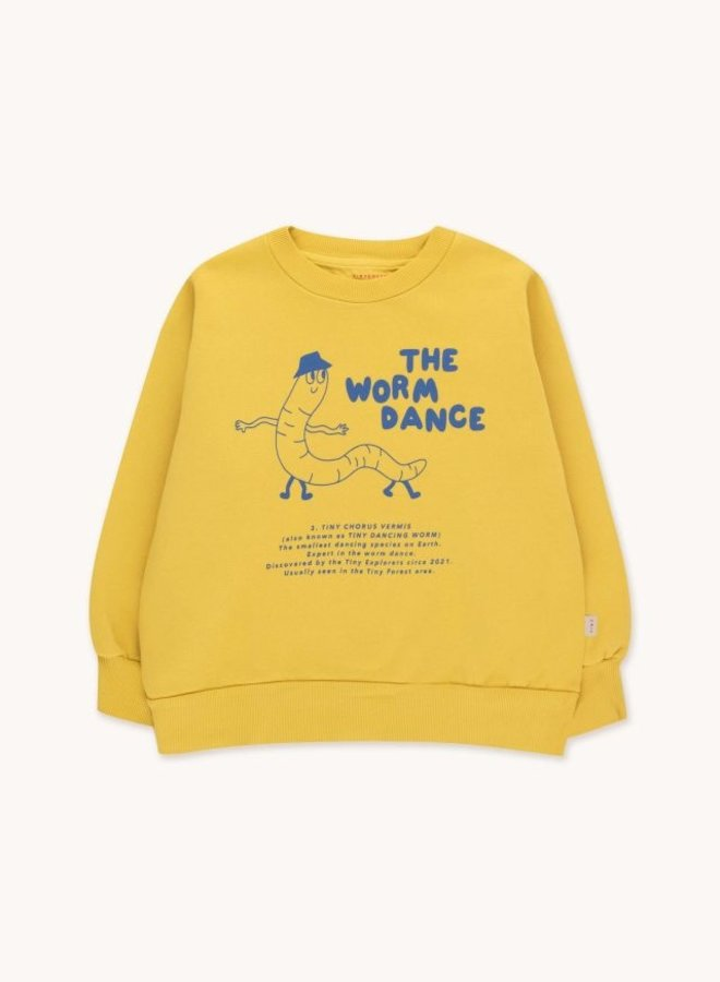Tiny Cottons - Worm Dance Sweatshirt, bamboo yellow/ultramarine