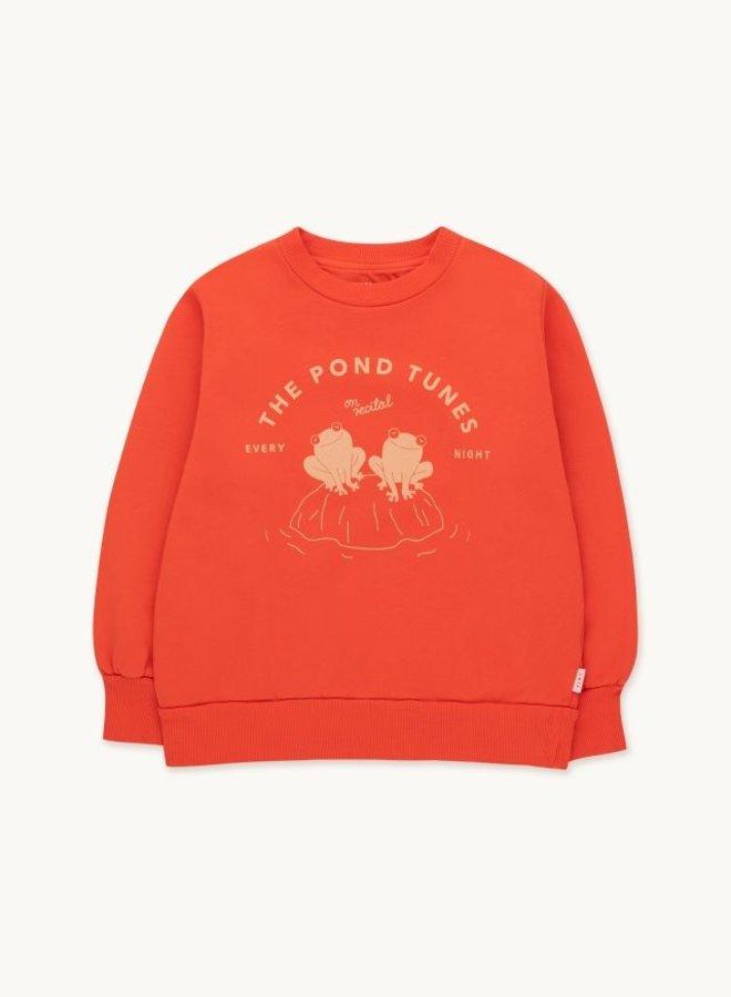 Tiny Cottons - Pond Tunes Sweatshirt, red/rose