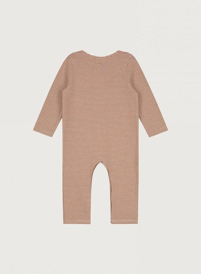 Gray Label - Baby L/S Playsuit, autumn/cream