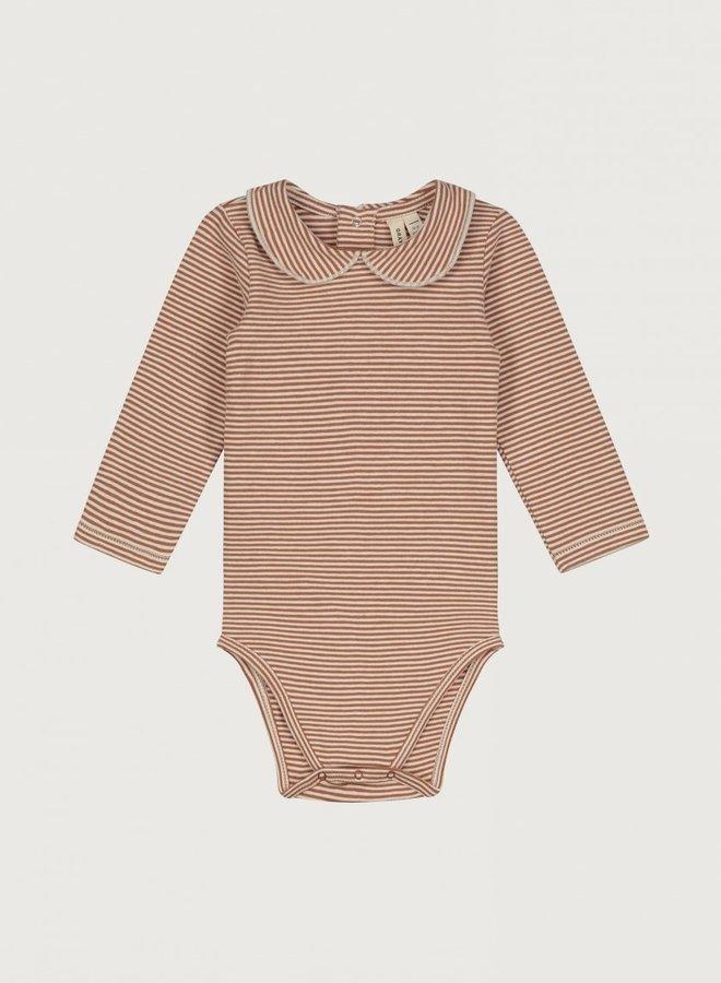 Gray Label - Baby Collar Onesie, autumn/cream