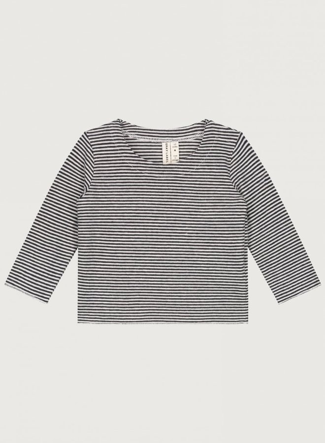 Gray Label - Baby L/S Tee, nearly black/cream