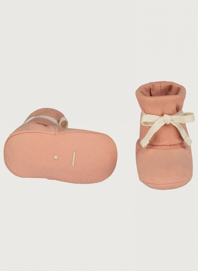 Gray Label - Baby Ribbed Booties 0-6M, rustic clay