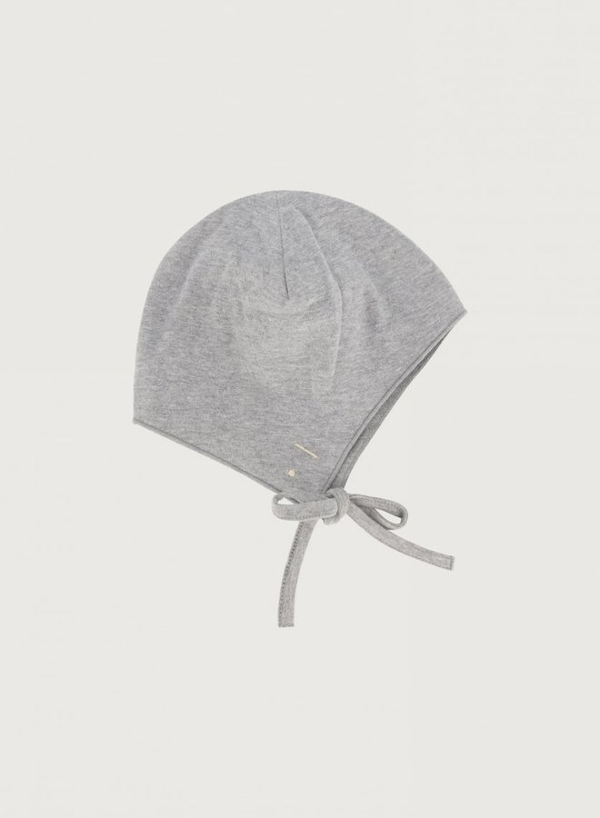 Gray Label - Baby Hat with Strings, grey melange