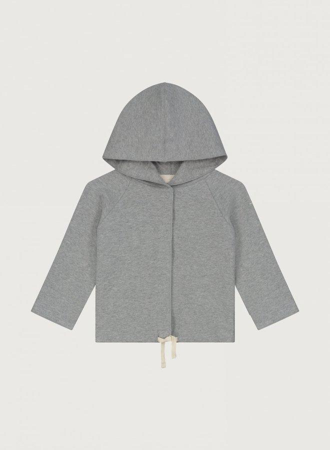 Gray Label - Baby Hooded Cardigan, grey melange