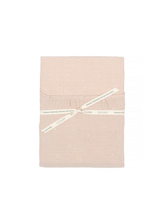 Nanami junior matresscover naturel leafprint