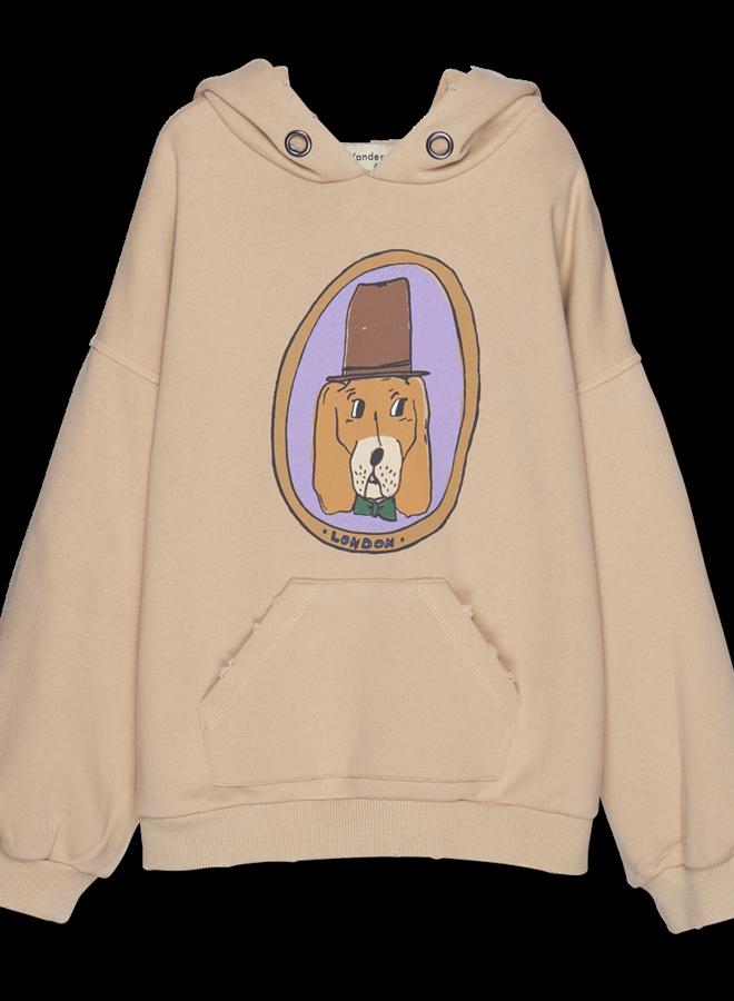 Wander & Wonder - Doggy Hoodie, almond